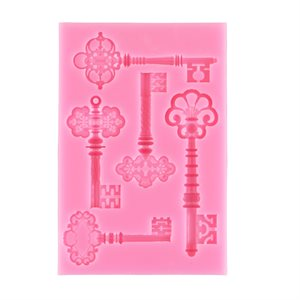 Fancy Keys Silicone Mold-4 Cavity