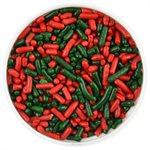 Red & Green Christmas Jimmies Sprinkles