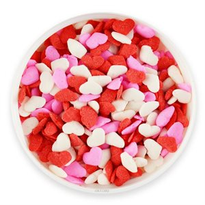 Valentine Heart Red, White & Pink Sprinkles