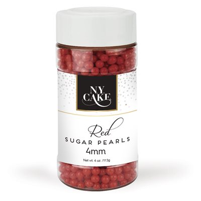 Red Sugar Pearls 4 mm
