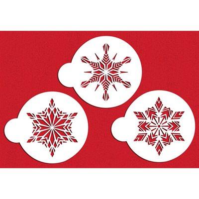 Large Crystal Snowflakes Stencil Set