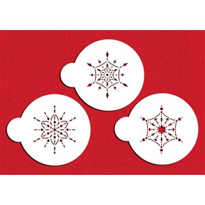 Small Jeweled Snowflakes Stencil Set