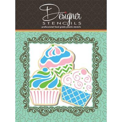 Cupcake Stencil & Cookie Cutter Set