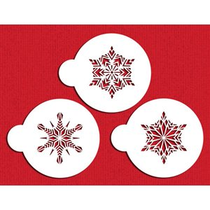 Small Crystal Snowflakes #1 Cookie Stencil