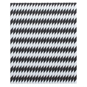 Black Stripes Straws Pack of 24
