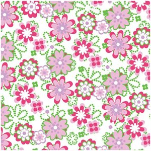 Pink Floral Chocolate Transfer Sheets