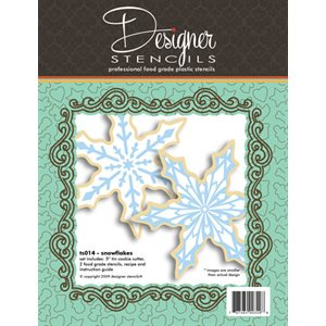designer stencils Swag All Over Cookie and Craft Stencil CM085
