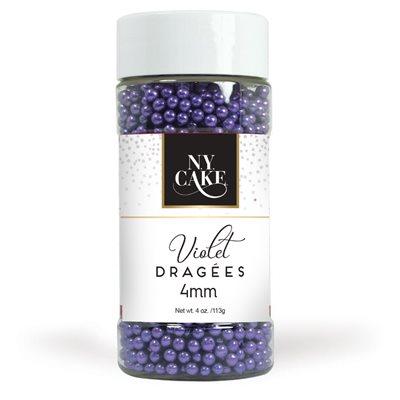 Violet Dragees 4 mm Size