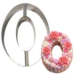 """Stainless Steel Number Mold- """"0"""" 8 1 / 2"""" x 5 1 / 2"""" x 2"""" Deep"""