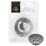 "Fluted Round Mini Tart Pan (2 3 / 4"") Set of 4"