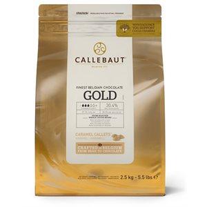 Gold Carmel Callets  30.4% By Callebaut 5.5 lb
