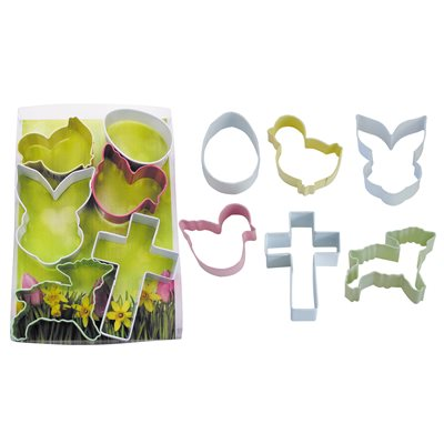 Easter Cookie Cutter Set Poly Resin 6 Pcs.