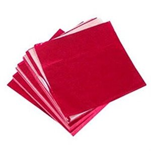 Red Foil Square 4 Inch x 4 Inch