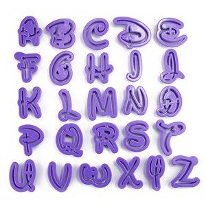 Alphabet Cutter Set-Purple