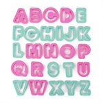 Alphabet Pastry & Cookie Cutter Set
