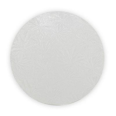10  Inch Round White Cake Board 1 / 2 Inch Thick