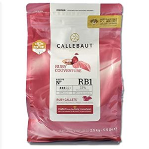 Ruby Couverture 33% By Callebaut 5.5 lb