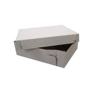 18 x 28 x 5 Inch Corrugated White Cake Box