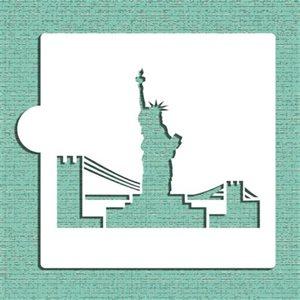 Statue of Liberty Cookie Stencil By Designer Stencils