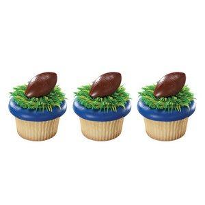 NFL Football Cupcake Rings