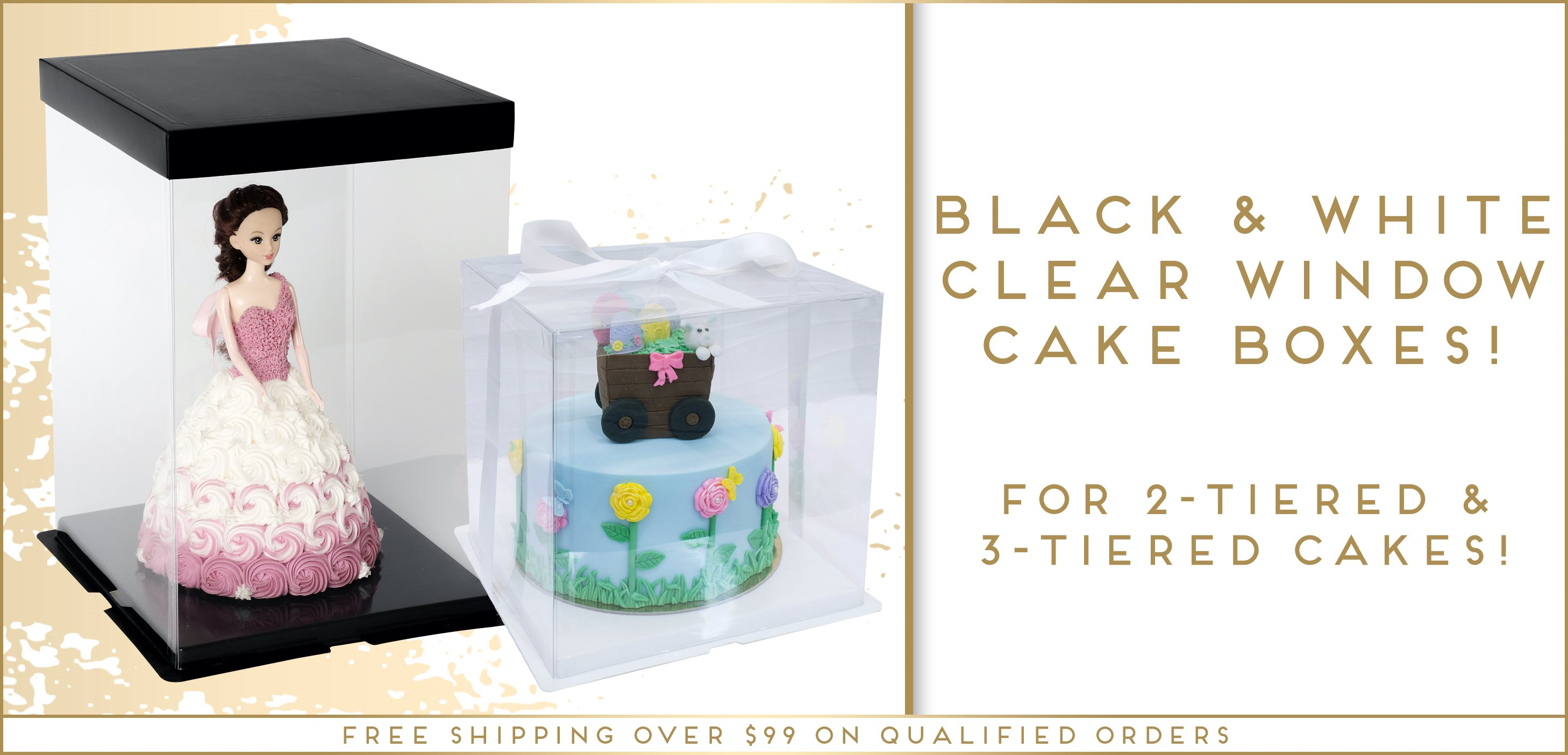Clear Window Cake Boxes