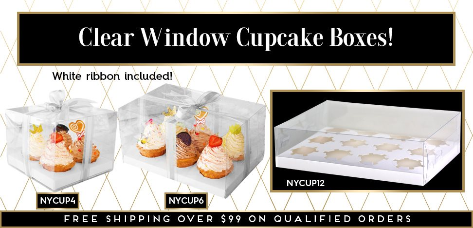 Clear Window Cupcake Boxes
