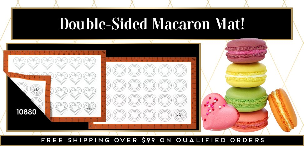 Heart Round Circle Double Sided Macaroon Macaron Silicone Mat