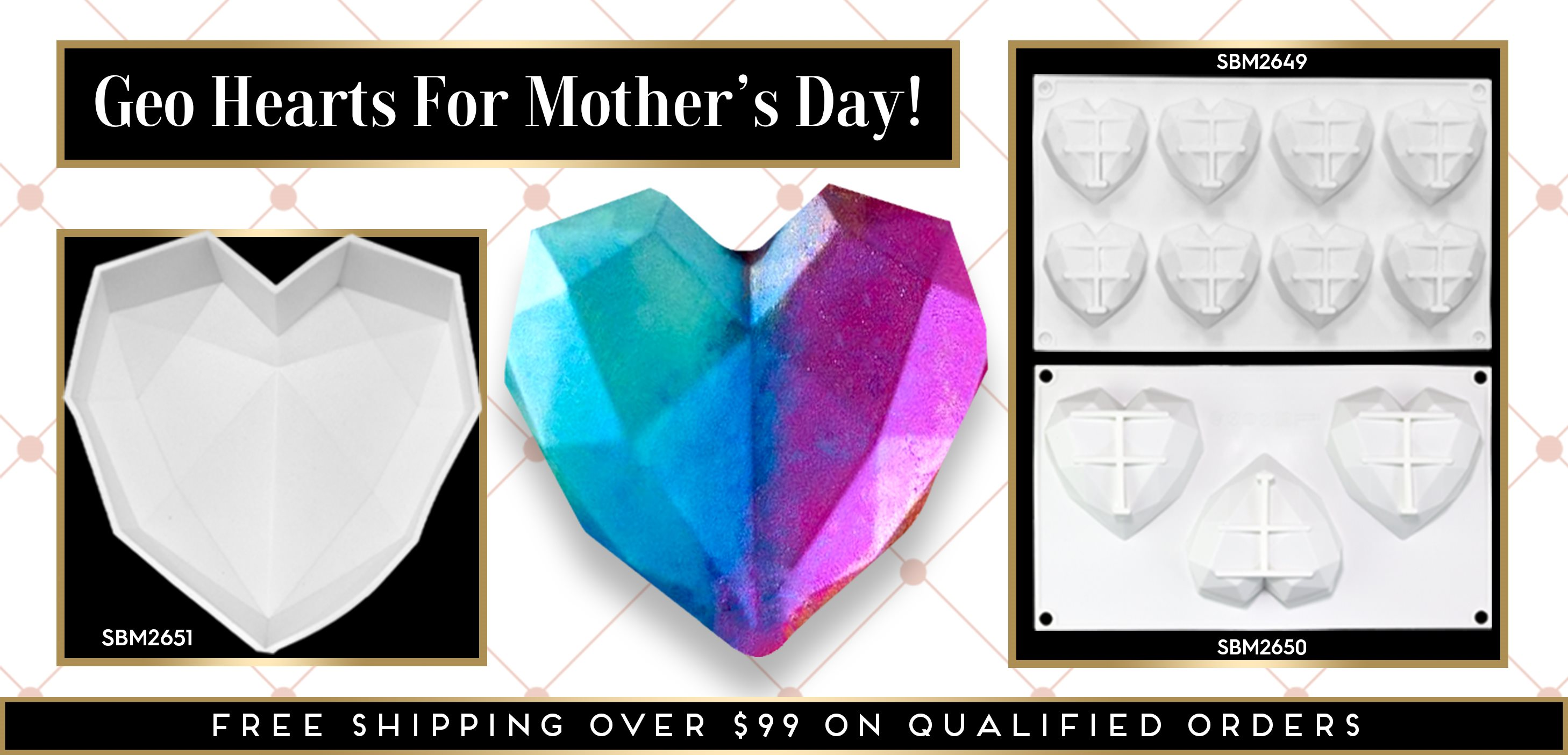 Mother's Day Geo Heart Smash Heart