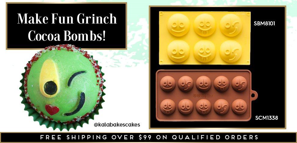 Grinch Emoji Christmas Holiday Cocoa Bomb