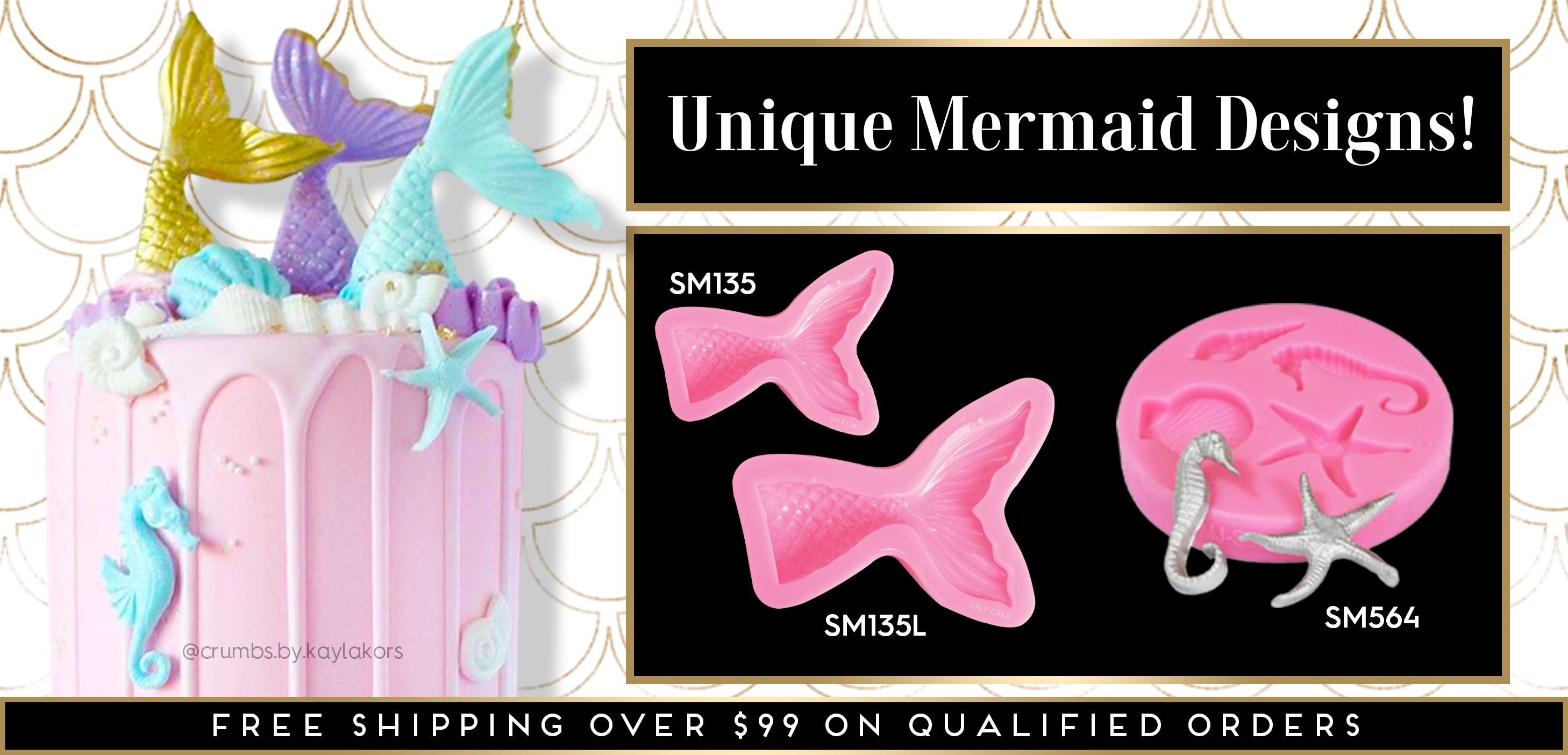 Mermaid Themed Silicone Molds