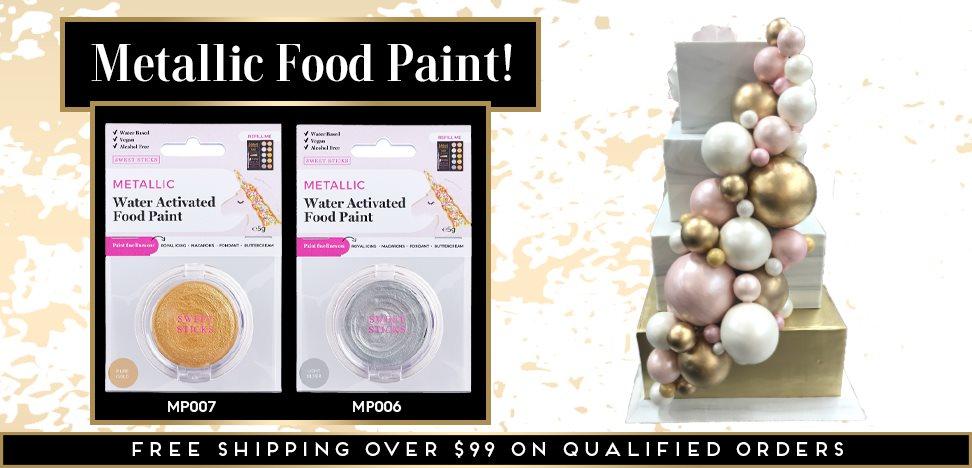 Metallic Food Paint Water Activated