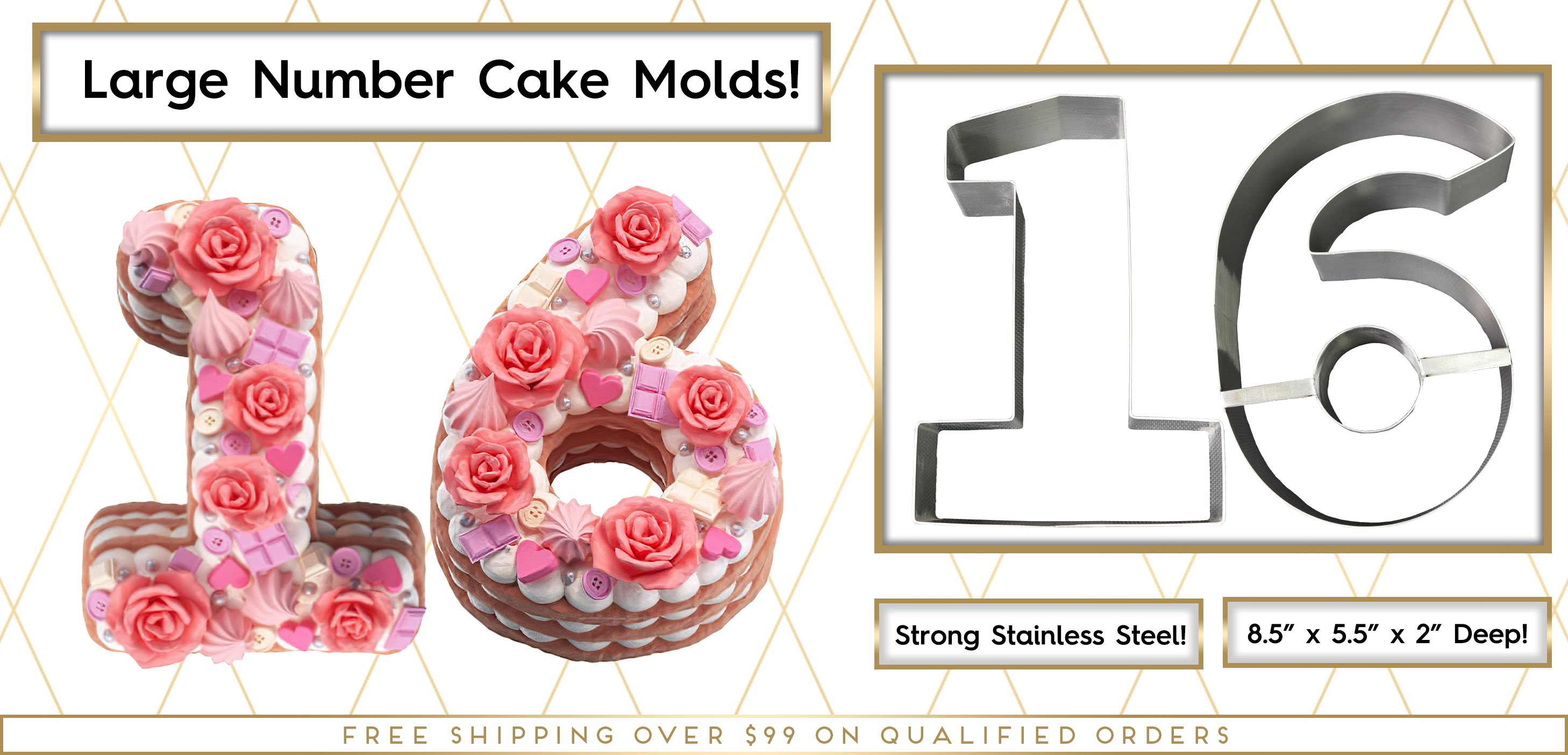 Number Cake Molds