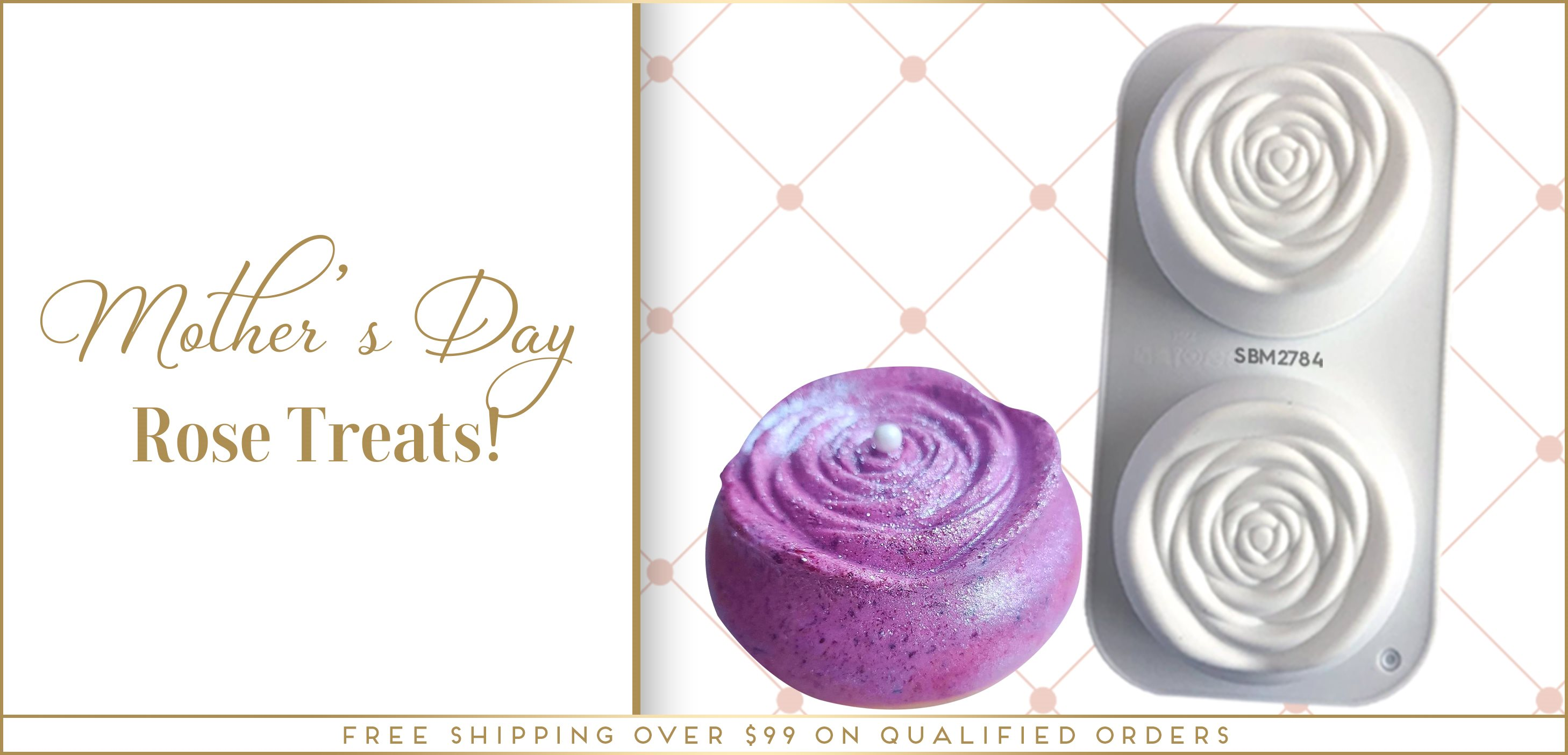 Rose Silicone Baking Freezing Mold Mother's Day