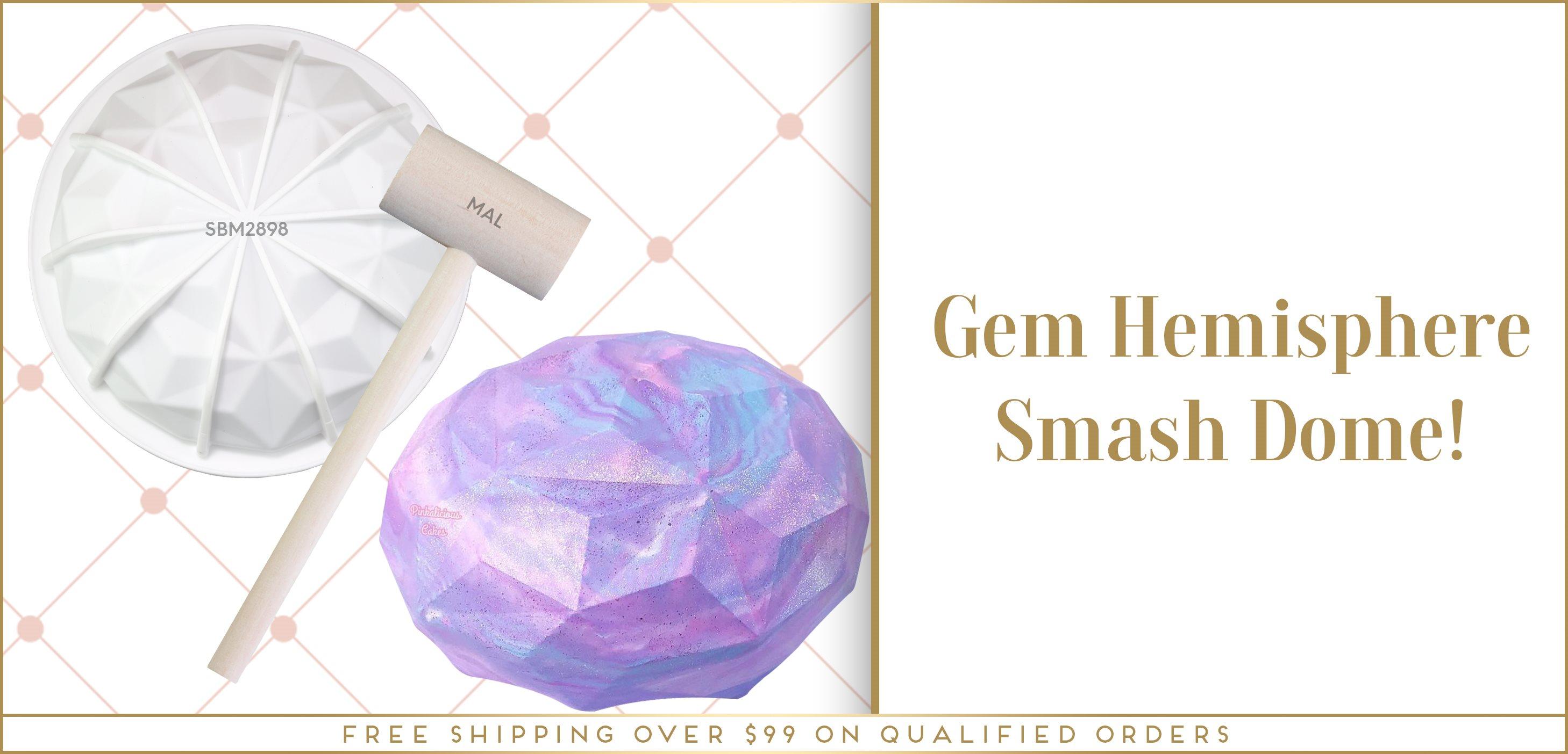 Gem Geo Smash Dome Breakable Chocolate Hemisphere Silicone Mold